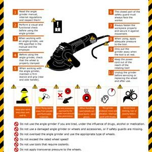 Safety Instructions - Angle grinder